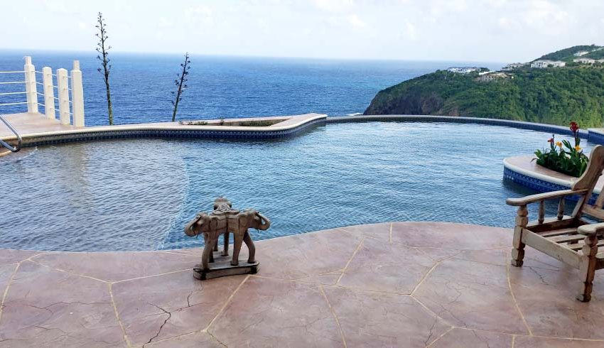 St-Lucia-Homes---Chateau-Devaux---pool image-1