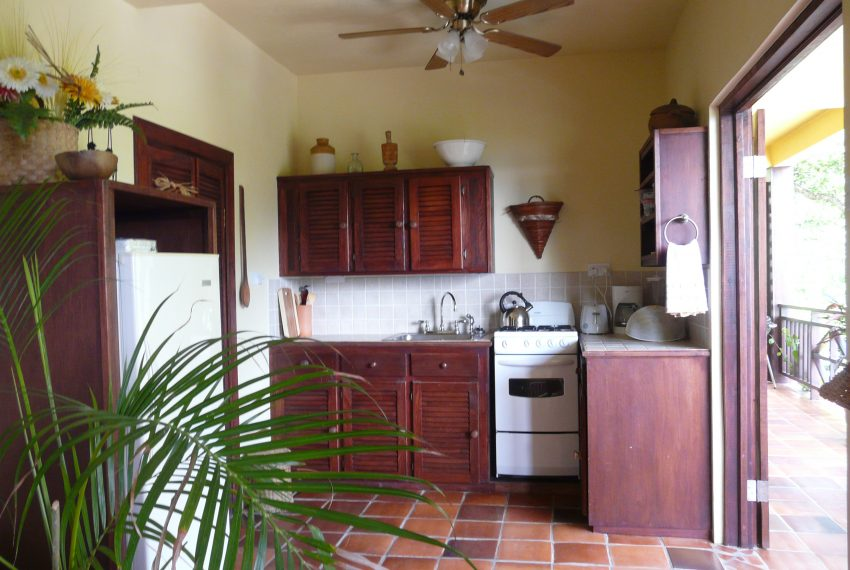 Well equipped kitchenette opening on the private veranda
