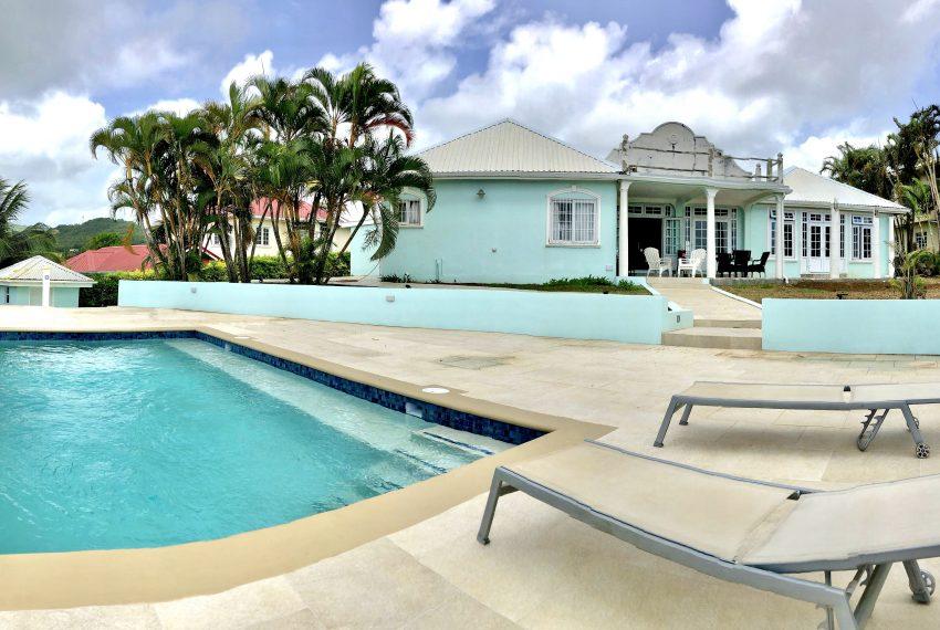 St Lucia Homes - Bon 019 - Pool- Yard-2d