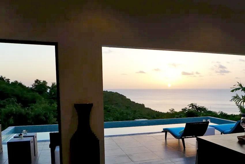 St-Lucia-Homes---GRI005-Lab-Villa----Indoor-sunset-view