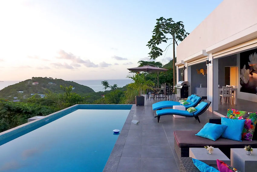 St-Lucia-Homes---GRI005-Lab-Villa----Pool-sunset-view-2